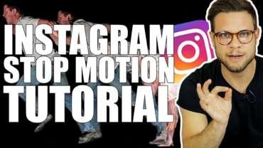 Mann erklärt in einem Video, wie der Instagram Stop Motion Effekt funktioniert.