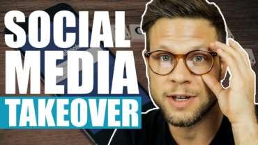 Mann erklärt Zuschauern ein Social Media Takeover