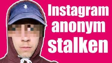 Instagram Stories & Accounts anonym stalken